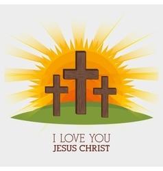 jesus christ design vector image