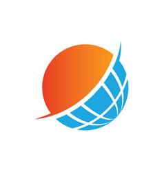 globe sphere earth blue logo image vector image vector image