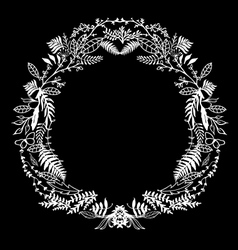 Hand Sketeched Floral Frame vector image vector image