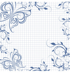 paper background with butterflies vector image vector image