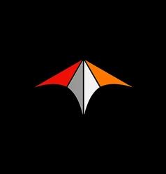 abstract arrow color technology logo vector image