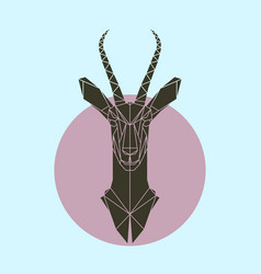 antelope in polygonal style vector image vector image