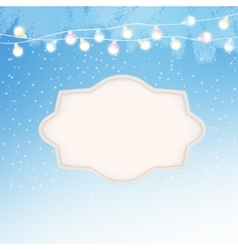 Christmas New Year greeting card invitation with vector image vector image