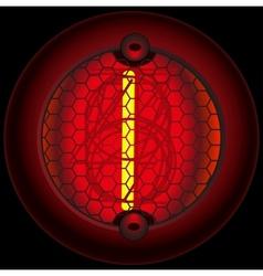 Digit 1 one Nixie tube indicator vector image vector image