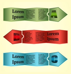 infographic template with arrows vector image
