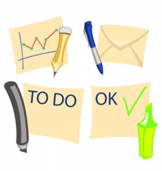 notes icons vector image vector image