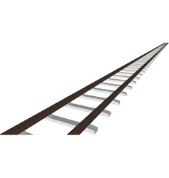 Railway railroad track silhouettes vector