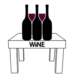 Wine on the table vector image