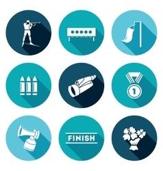 Biathlon Icons Set vector image