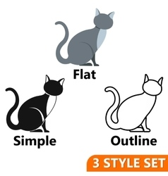 Cat icons set vector image