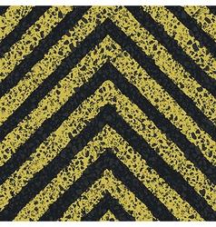 Danger arrows on asphalt texture EPS8 vector image