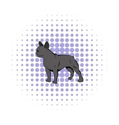 French bulldog icon comics style vector image vector image