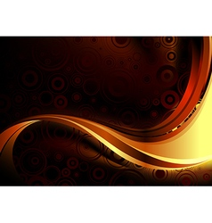 Gold abstract composition vector image