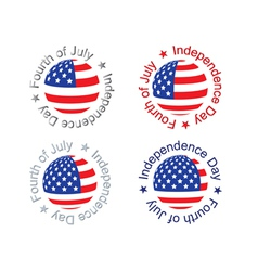 Independence Day signs vector image