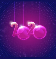 2020 ball vector image