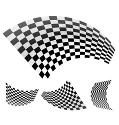 abstract racing flags vector image