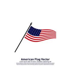 american flag design template icon symbol vector image