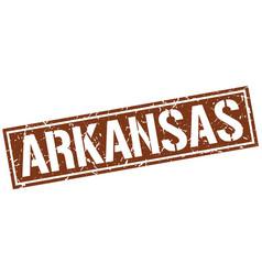 Arkansas brown square stamp vector