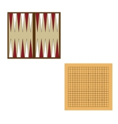 Backgammon and go game vector image