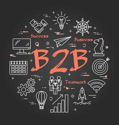 Black concept of b2b vector