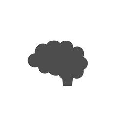 Brain icon on white background vector