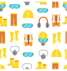 cartoon personal protective equipment seamless vector image