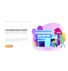 Children rehabilitation center concept landing vector