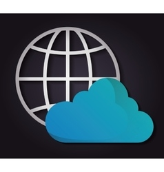 Cloud computing icon Technology design vector