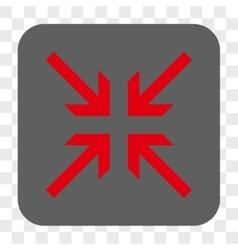 Collide Arrows Rounded Square Button vector
