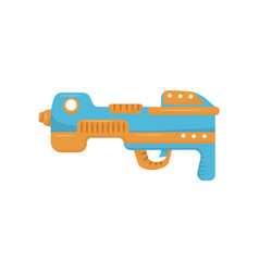 Colorful toy gun handgun pistol for kids game vector