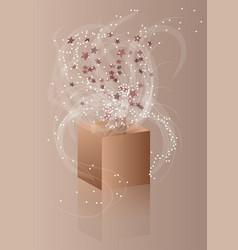 Confetti and box vector