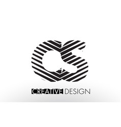cs c s lines letter design with creative elegant vector image