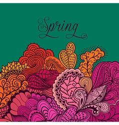 Decorative element lace border Spring lettering vector image