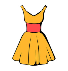 Dress icon icon cartoon vector
