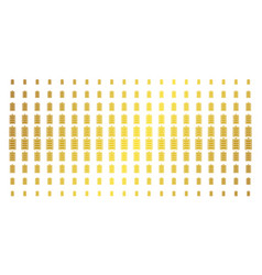 Electric battery golden halftone pattern vector