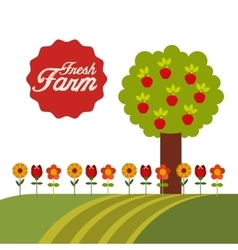 Farm fresh concept icon vector