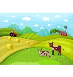 Farmlandscape vector