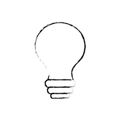 Figure electricity bulb innovation to illuminated vector