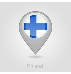 Finland flag pin map icon vector image