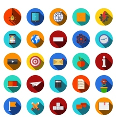 Flat modern icons set vector