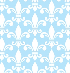 fleur de lis white and blue seamless vector image