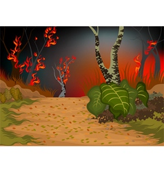 Forests fire vector