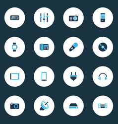 Gadget icons colored set with tablet pc phone vector
