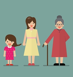 Generation of women vector image