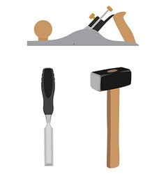 Hammer chisel and jointer vector image