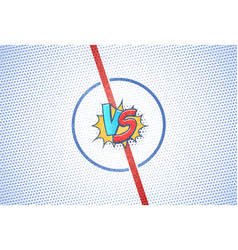 hockey championship versus battle cartoon vector image