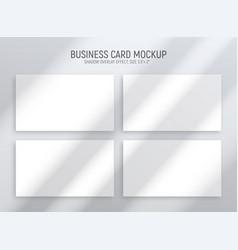 horizontal business cards set vector image