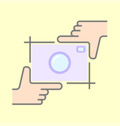Human hands doing cropping symbol isolated vector