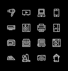 Icons household appliances are flat vector