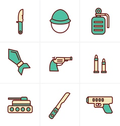 Icons Style Icons Style military icons vector image